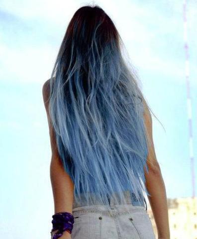 Hallo Ich Würde Gerne Meine Spitzen In Blau Färben Aber Haare