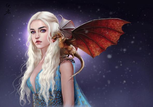 Game of Thrones Daenerys Targaryen - (Drachen, game of thrones, Dothraki Sprache)