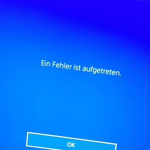 Ein Fehler ist aufgetreten. - (Spiele, PS4, Fehler)