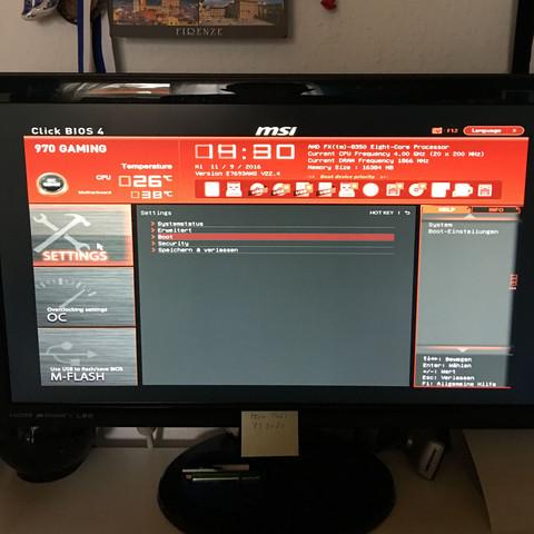 Das Bootmenü sieht normal aus - (PC, Grafikkarte, Grafik)