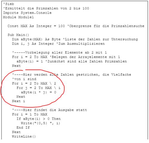 Primzahlen ermitteln - (Informatik, Visual Basic, prozedur)