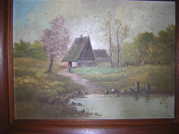 Bildansicht - (Kunst, Gemälde, Signatur)
