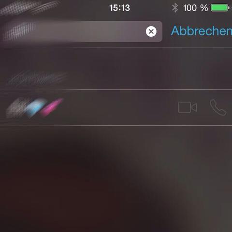Die Zeichen sind nicht blau  - (iphone5, facetime)