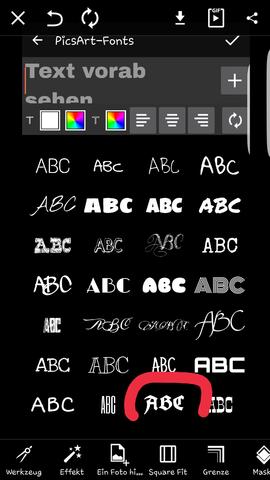 Picsart screen - (Suche, Schriftart)