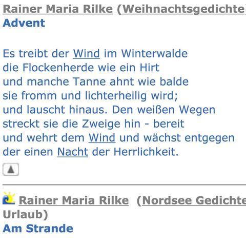 Hallo Leute Hab Gerade Ein Gedicht Von Rilke Gelesen Und