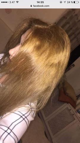 Orange haare erneut blondieren