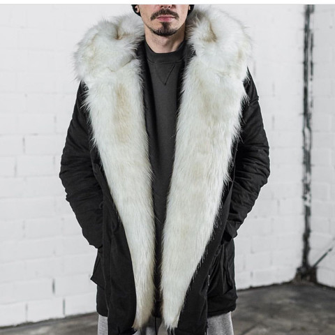 Big fur jacket Parka Herren - kein echt fell -  - (Jacke, Parka, Big fur jacket)