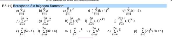 h,i,j,l,e und o - (Mathematik, Summe)