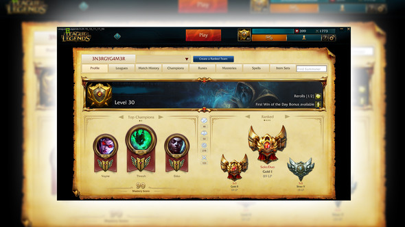 Hier das Profil - (Account, Verkauf, League of Legends)