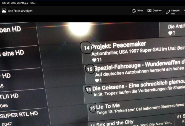SONY TV-Guide - (HD, Sonderzeichen, android tv)