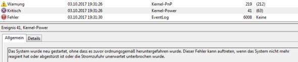 """Allgemeine Info zu """"Kritisch"""" - (Computer, Technik, Hardware)"""