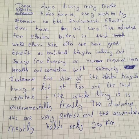 Comment schreiben auf englisch aufsatz grundschule beschreibung