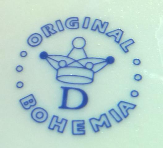 """Porzellanstempel """"Bohemia D"""" - (Porzellan, Porzellanmarke, Porzellanstempel)"""