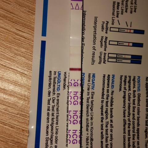 Mit Blitzlicht  - (schwanger, Test)