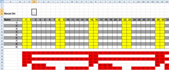 Exceltabelle - (Tabelle, Excel 2007)