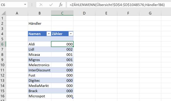 Excel mit Formel - (Excel, Formel, Nachbarzelle)