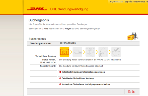 ::: - (DHL, Packet)