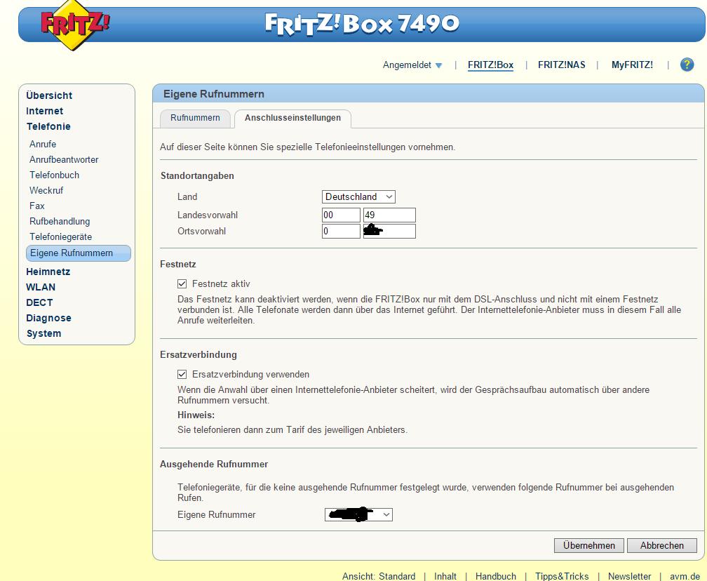 hallo, ich habe eine fritzbox 7490 und möchte nun ein telefon