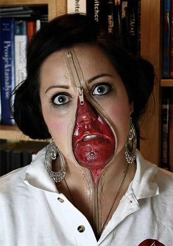 Halloween - (Kostüm, Halloween, Gesichtsbemalung)