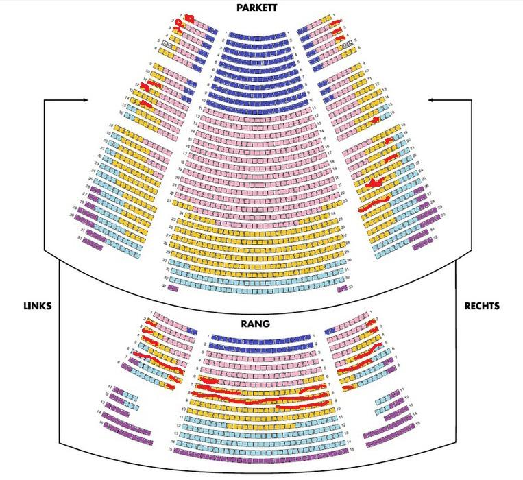 Hamburg König der Löwen beste Sitzplätze, die roten sind