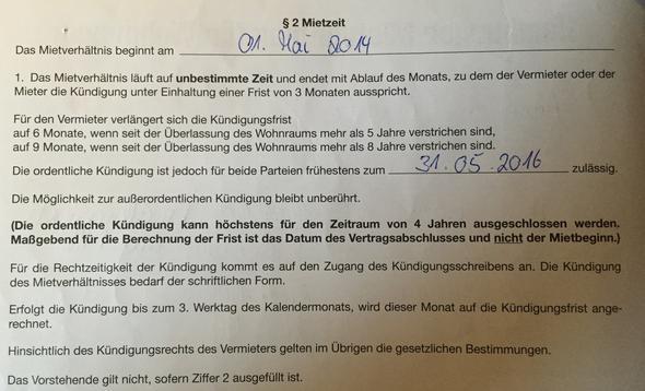 Hamburger Mietvertrag 2 Jahres Klausel Mietrecht Kündigung Anwalt