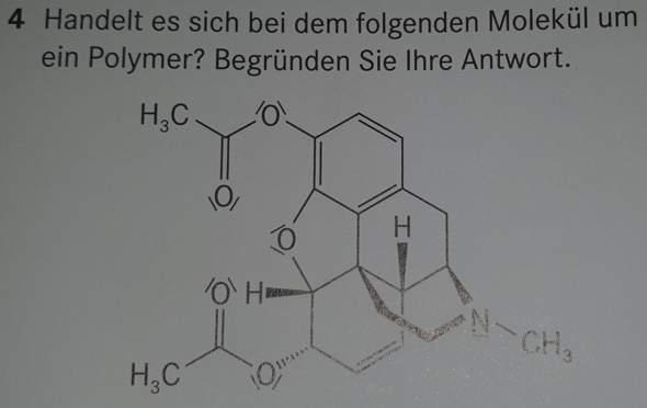 Handelt es sich bei dem folgenden Molekül um ein Polymer?