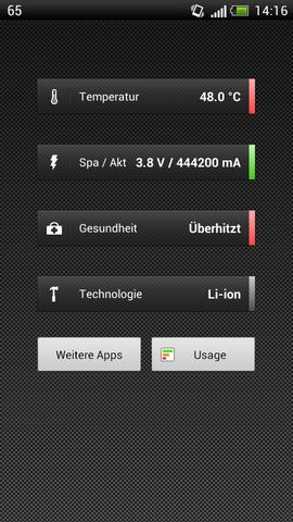 Das ist der Screen von der App - (Handy, Android, Akku)