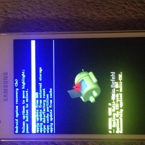Kein Befehl ?  Android system recovery - (Handy, Android, zurücksetzen)