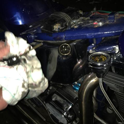 Harley Davidson Softail FXSTC EVO Öltank läuft über?