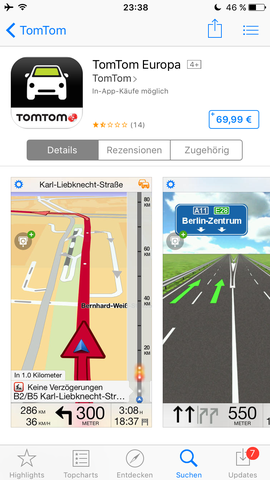 TomTom App - (Handy, iPhone, App)