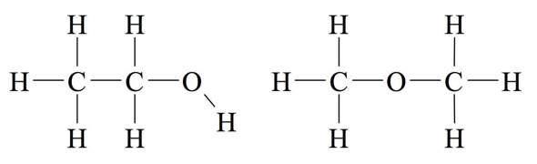 Hat Ethanol Isomere? Wenn ja,sind das die 2 Isomere von Ethanol?