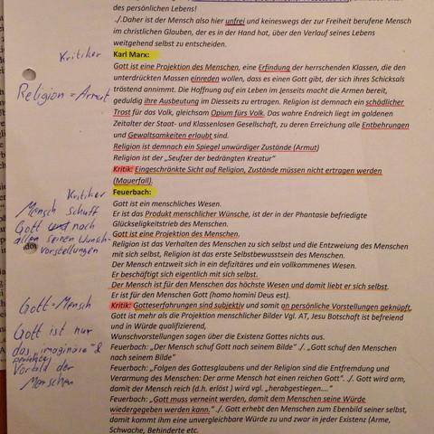 Die Zusammenfassung von den zwei Kritikern - (Menschen, Religion, Gott)