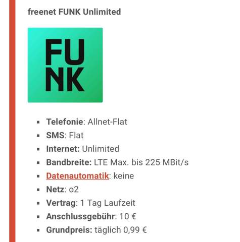 Hat hier jemand Erfahrung mit dem unlimited Tarif von Freenet Funk und kann mir meine Frage dazu beantworten?