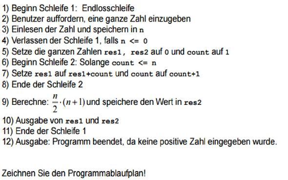Aufgabe - (Programm, programmieren, IT)
