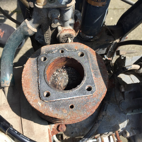 Bild des Kolbens  - (Mofa, Moped, 50ccm)