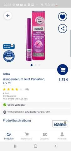 Hat jemand Erfahrung mit diesen Wimpern Serum von Balea, also hilft das wircklich für längere Wimpern?:)?