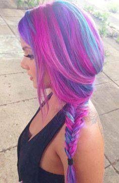 farbige Haare - (Farbe, färben, blondieren)