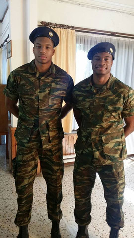 2 NBA Stars at theire Service for the Greek Army - (Militär, EU, Griechenland)