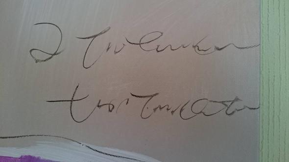 Signatur - (Künstler, Name vom Bild)