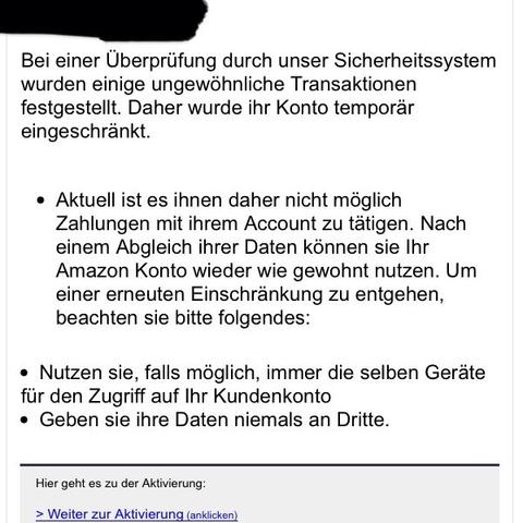 Komische email - (Amazon, E-Mail, Betrug)