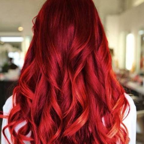 Haare überfärben gefärbte rot Rotgefärbte Haare