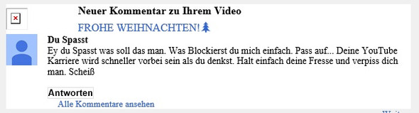 Haterkommentar - (Youtube, Video, Account)