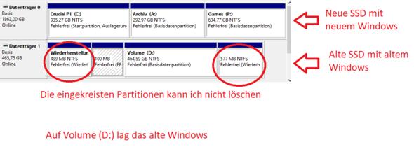 Haupt-Windows von 2 Windows Installationen gelöscht, nun startet PC nicht mehr?