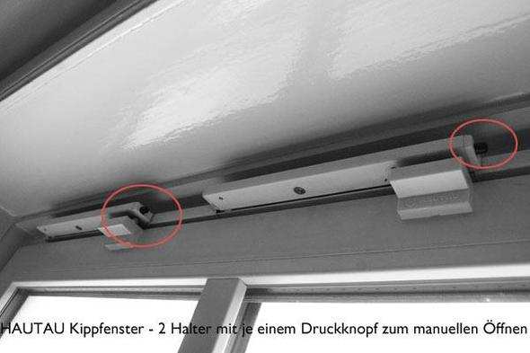 Hautau Kippfenster mit 2 Haltern und je einem Druckknopf - (Haus, Haushalt, öffnen)