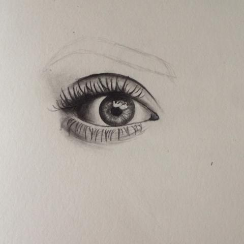 Meine Zeichnung - (Haut, zeichnen, Augenbrauen)