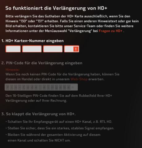 hd karte verlängern HD+ Hilfe Die PIN (Fernseher, Code)