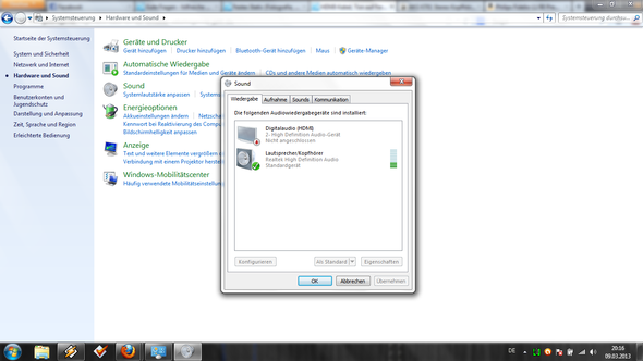 digitalaudio hdmi - (Computer, Windows 7, Fernseher)