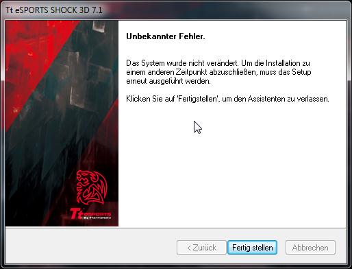 Scrennshot nach dem installieren von dem Treiber/der Software - (PC, Headset, installieren)