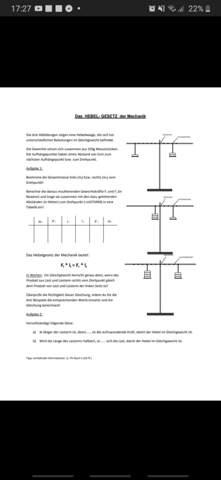 Hebelgesetz der Mechanik | Aufgabe?