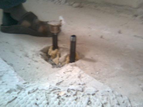 Heizungsrohr im Weg - (schweißen, Heizungsrohr, presstechnik)